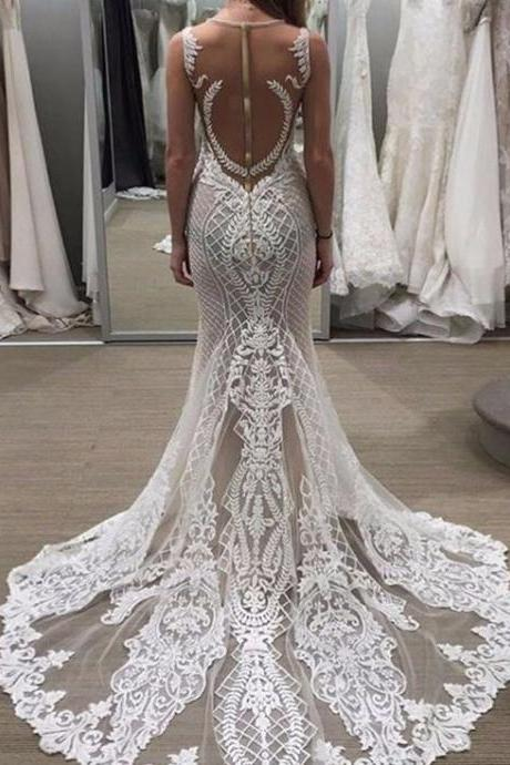 Lace Bridal Dresses,A Line Bridal Dresses,Gorgeous Bridal Dresses,Summer Bridal Dresses