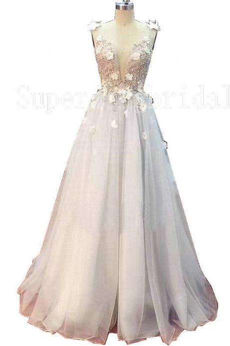 Brand Summer Bridal Dress,Spaghetti Straps Flowers and Beads Beach Wedding Dress,Floor Length Bridal Dresses 2017,100% handmade Bridal Gown